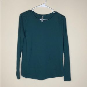 NWOT! Fabletics green open back shirt size Small